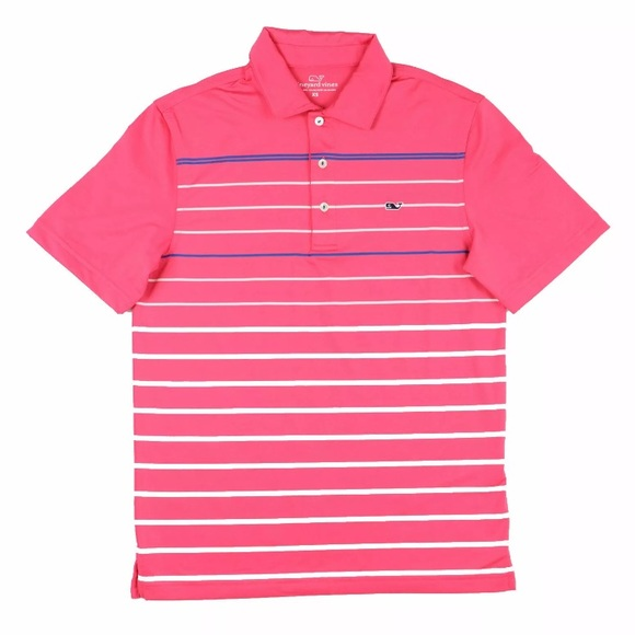 Vineyard Vines Other - Vineyard Vines XS Whale Polo Shirt Pink Stripe
